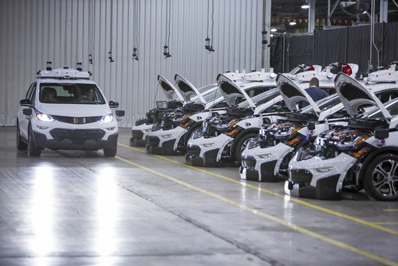 Chevrolet Bolt EV with autonomous technology.