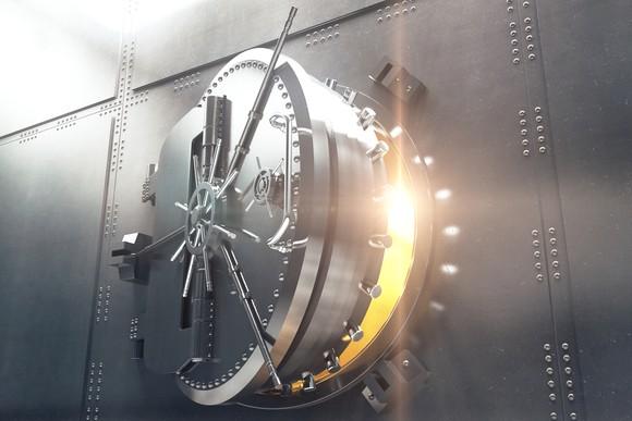 Vault with door cracked open