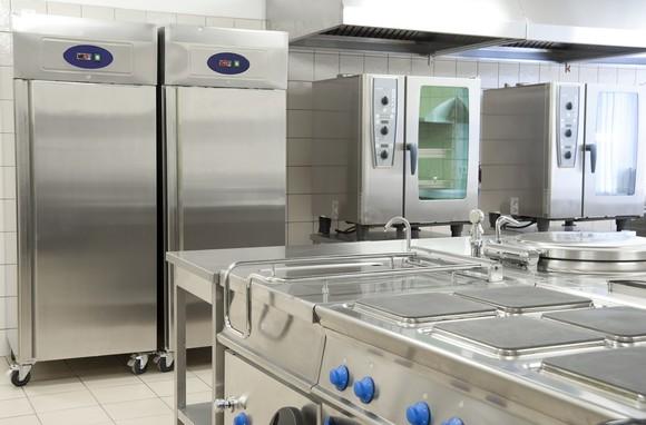 A restaurant kitchen