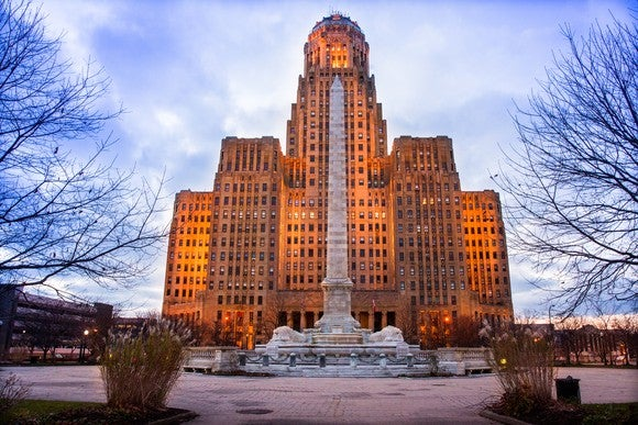 City Hall in Buffalo, New York.