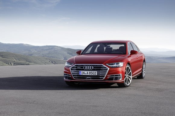 Image of Audi's new A8.