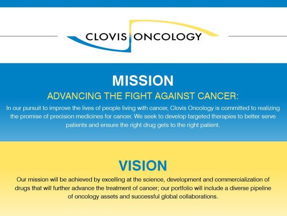 Clovis mission and vision statement.