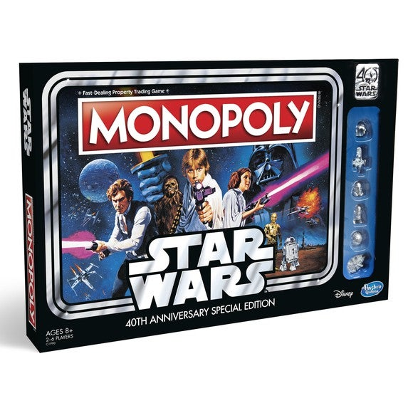40th Anniversary Edition Star Wars Monopoly Game.