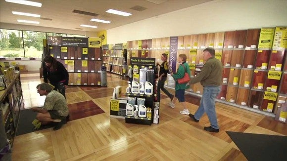 Customers shopping inside a Lumber Liquidators store