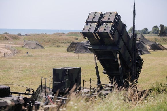 Patriot missile battery