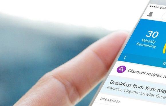 The Weight Watchers app on a smartphone.