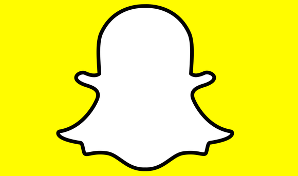 Snap Inc's logo of a white ghost on a yellow background