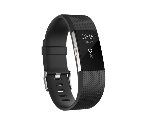 Fitbit Charge 2 wearable fitness tracker.