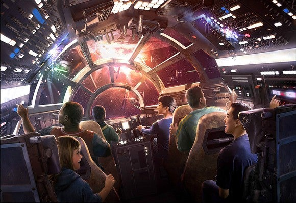 Conceptual art of a new Star Wars ride