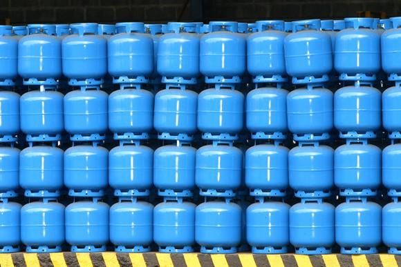 stacked propane tanks