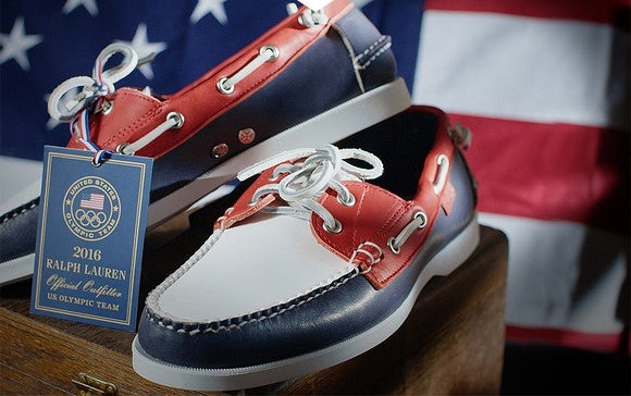 Ralph Lauren special edition Olympics shoes.