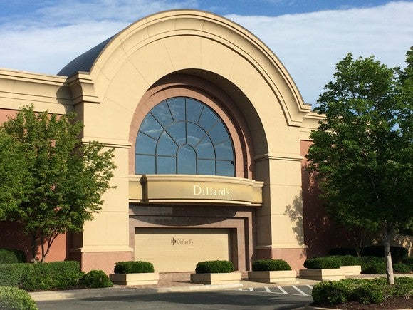 The exterior of a Dillard's store.