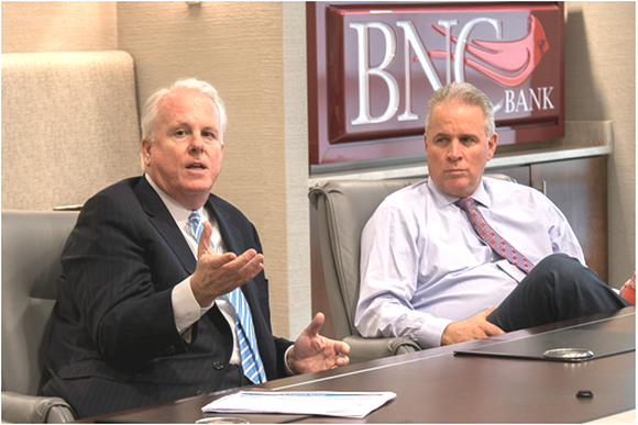 Pinnacle Financial Partners CEO Terry Turner discussing its merger with BNC Bancorp CEO Rick Callicutt.