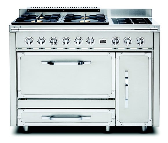Industrial stovetop and oven.