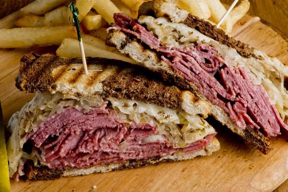 A pastrami sandwich.