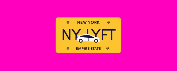 NY LYFT license plate image