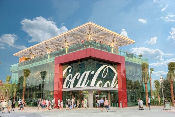 The exterior of the Coca-Cola store in Orlando