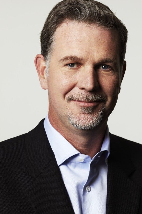 Netflix CEO Reed Hastings -- head shot