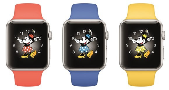 Three Apple Watches in a row.
