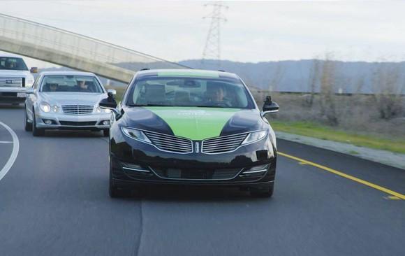 An NVIDIA self-driving car.