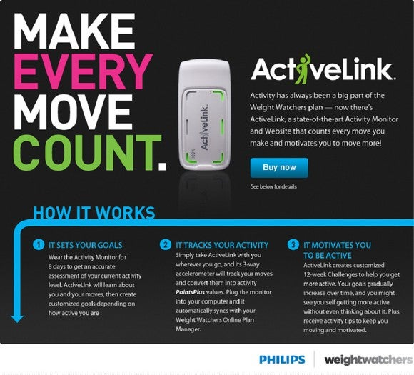 ActiveLink tracking device from Weight Watchers.