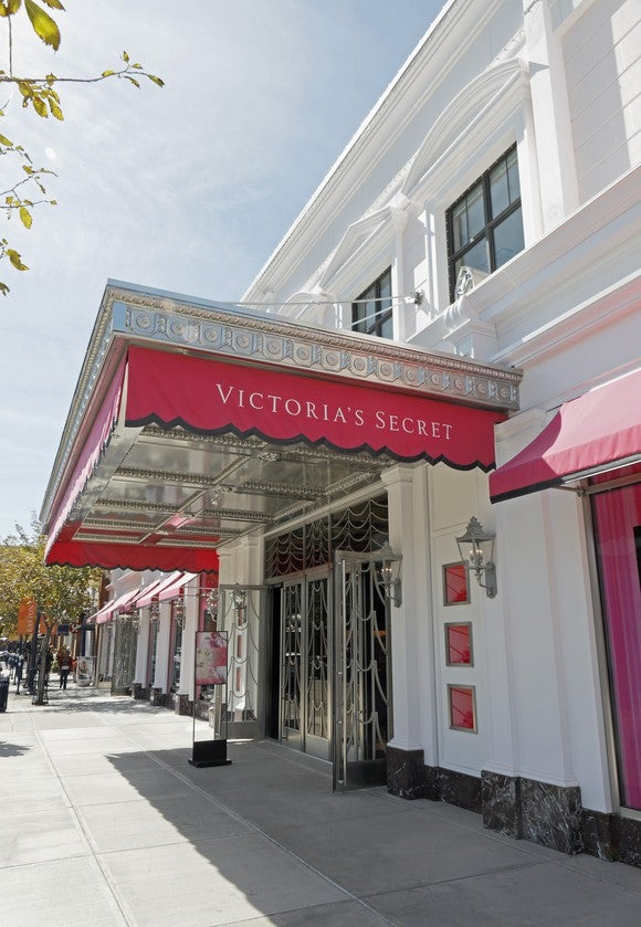 The entrance to a Victoria's Secret store