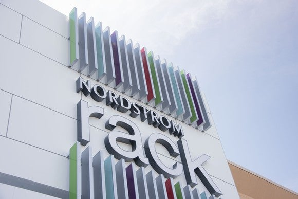 The sign outside a Nordstrom Rack store