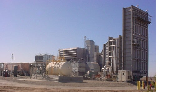 Energy generation equipment at a power plant.