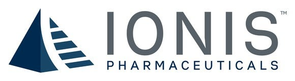 Ionis Pharmaceuticals logo on a white field.