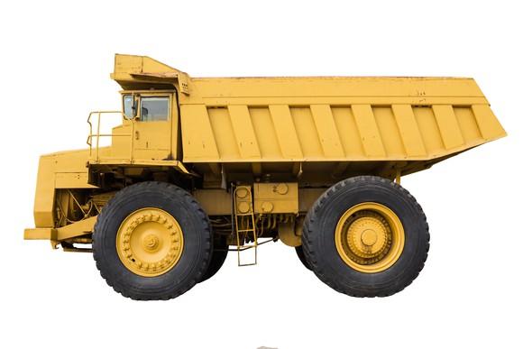 a caterpillar mining truck