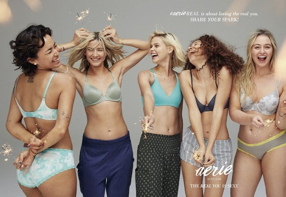 "Aerie's ""Spark"" marketing campaign."