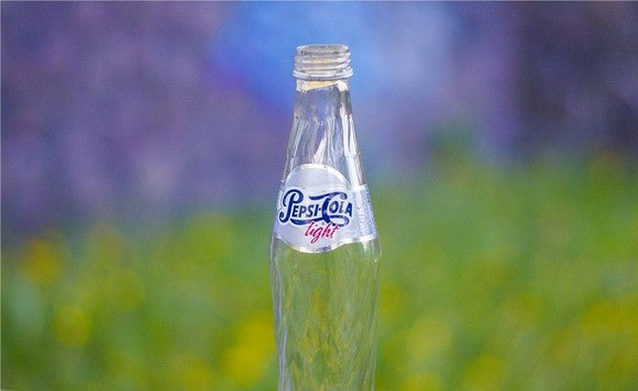 A bottle of Pepsi Cola Light.
