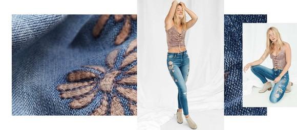 A model wearing American Eagle jeans.
