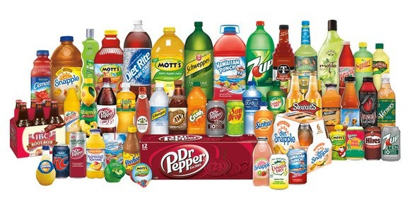Dr Pepper Snapple Group's brand portfolio.