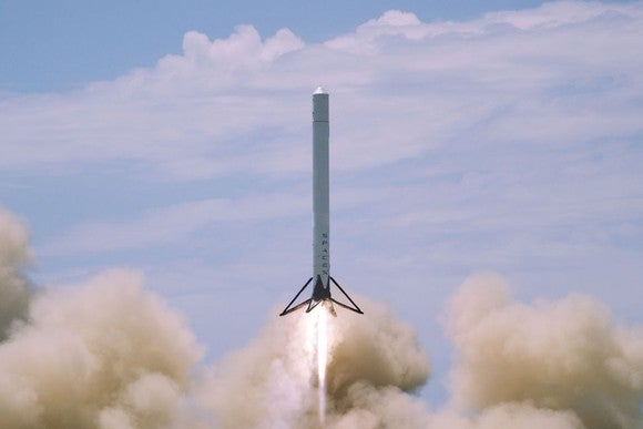 SpaceX rocket launching