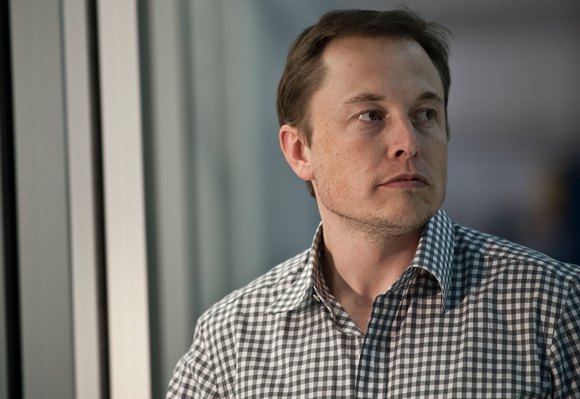 Head shot of Elon Musk