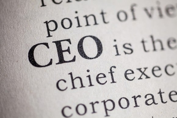"A picture of the acronym ""CEO."""