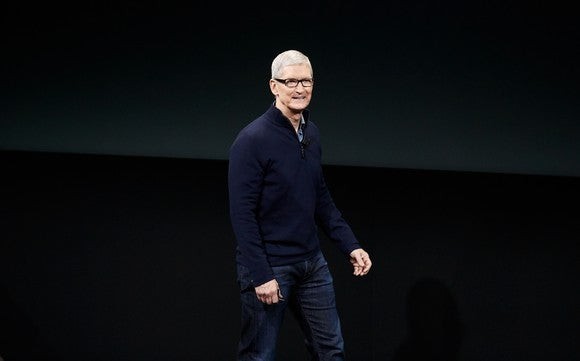 CEO Tim Cook at Apple's iPhone 7 launch