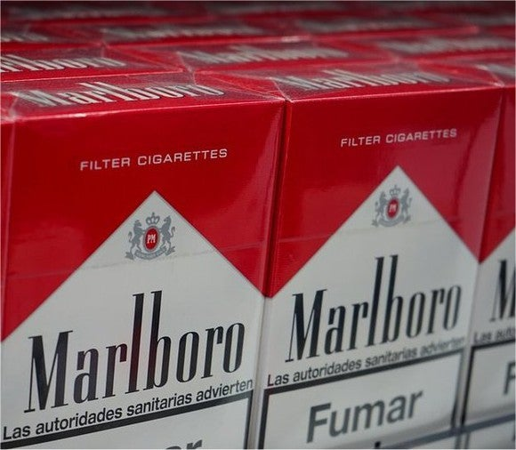 Packs of Marlboro cigarettes.