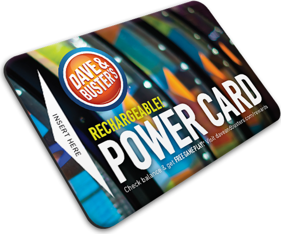 The Dave & Buster's Power Card against a white background.