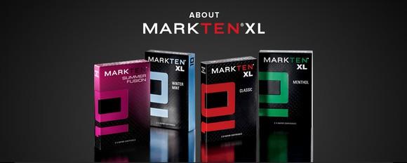 MarkTen e-vapor product containers.