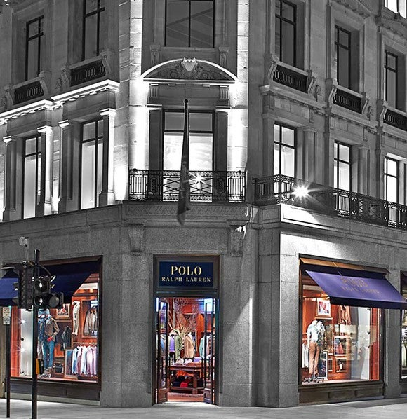 The entrance to the Ralph Lauren flagship store in London