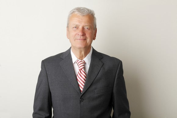 Older man in business suit