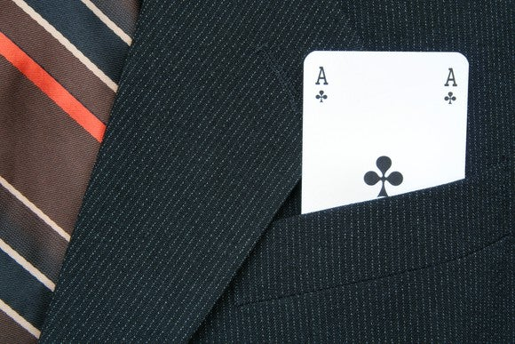 Ace of clubs in coat pocket