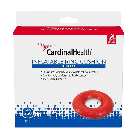 Cardinal Health inflatable ring cushion package.