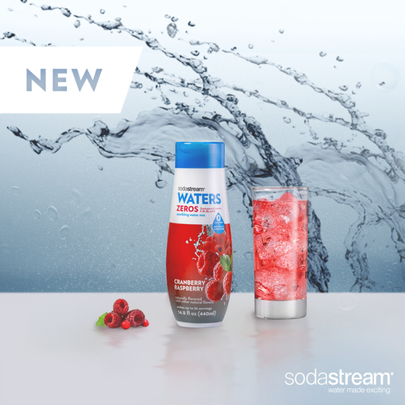 A SodaStream advertisement for a water flavoring.