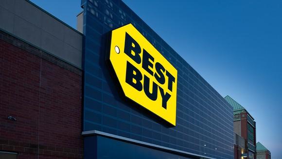 Best Buy storefront sign