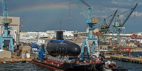 Huntington Ingalls shipbuilding yard