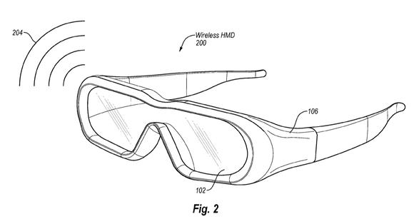 Patent illustration of smart glasses