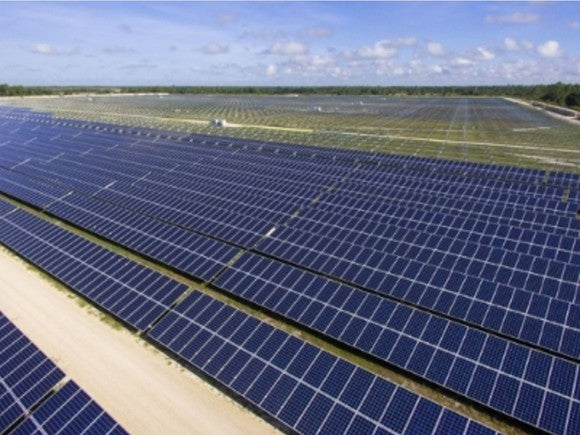 Solar field owned by Florida Power & Light.